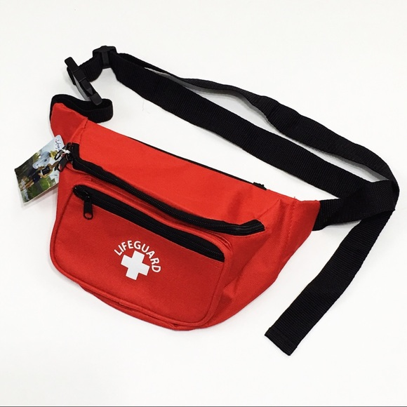 9f2a88b93579 NWT Red Lifeguard Fanny Pack 3 Pocket